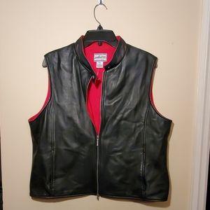 Pendleton Leather Vest Size XL